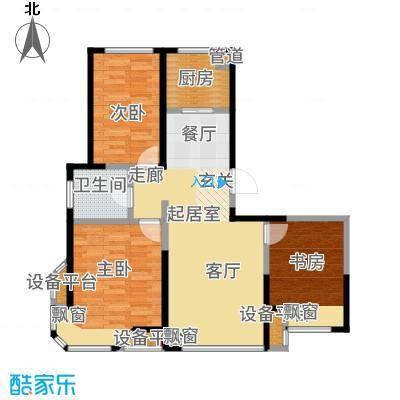 京贸国际公馆115.00㎡一期7号楼1户型3室2厅