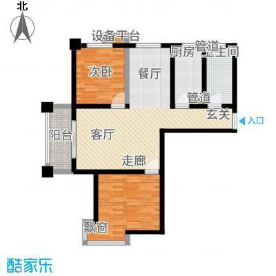 尚品国际104.74㎡一期Q户型2室2厅