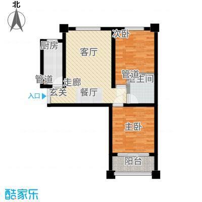尚品国际93.61㎡一期S户型2室2厅