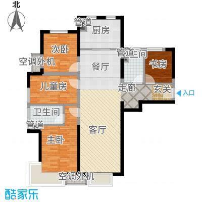泰禾·拾景园121.82㎡A户型4室2厅