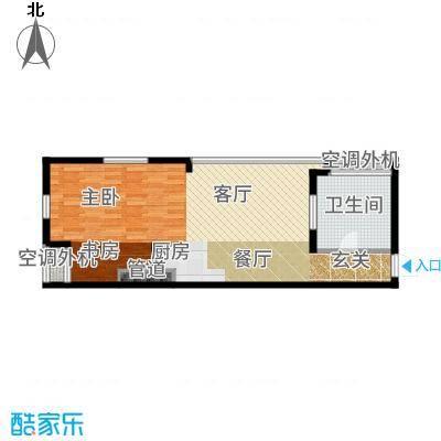 北京海航国兴城68.00㎡海航国兴城户型1室1厅