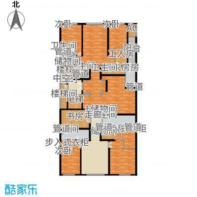 中海枫丹公馆446.00㎡FD-A法式户型4室3厅