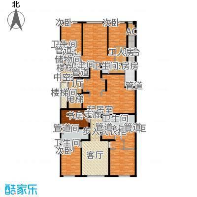 中海枫丹公馆446.00㎡FD-A英式户型4室3厅
