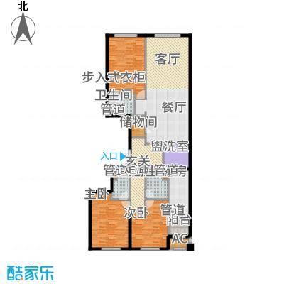 中海枫丹公馆180.00㎡FD-B户型3室2厅