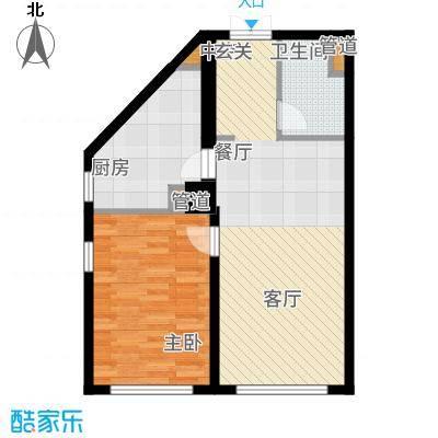 中海枫丹公馆72.00㎡FD-G1户型1室1厅