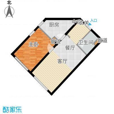 中海枫丹公馆72.00㎡FD-G户型1室1厅