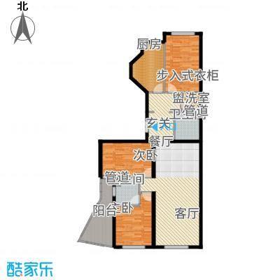 中海枫丹公馆150.00㎡FD-D户型3室2厅