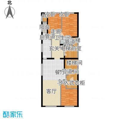 中海枫丹公馆166.00㎡FD-C户型3室2厅