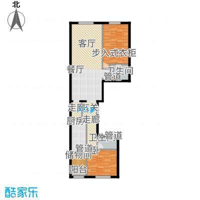 中海枫丹公馆143.00㎡FD-E户型2室2厅