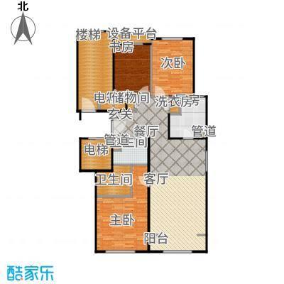 润西山·B组团126.00㎡C1户型3室2厅