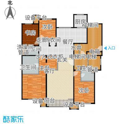 润西山·B组团192.00㎡A2户型4室2厅