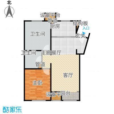 润西山·B组团95.00㎡D1户型2室2厅