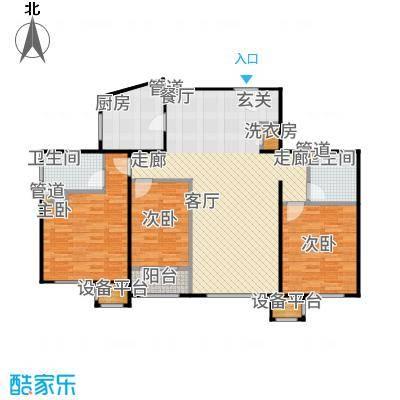 润西山·B组团130.00㎡D2户型3室2厅