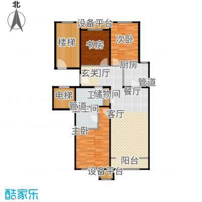 润西山·B组团130.00㎡D3户型3室2厅