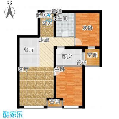 锦绣园88.00㎡I-2a户型2室2厅