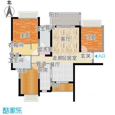 招商金山谷129.00㎡尚层8/10/12栋03户型3室2厅