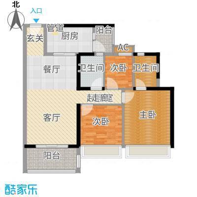 招商金山谷105.00㎡尚层9/11/13栋01户型3室2厅