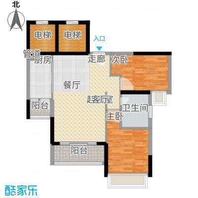 星誉花园82.06㎡3栋二至十八层03单位户型2室2厅