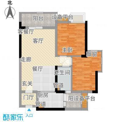 锦绣天伦花园13座2梯03单位户型2室2厅