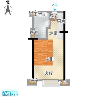 广州民间金融大厦44.31㎡B03单元户型