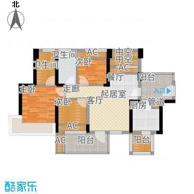 潜龙曼海宁88.71㎡73阳台户型3室2厅