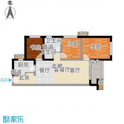 万科公园里88.00㎡二期H-3B--户型3室2厅