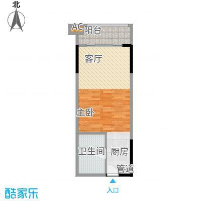 KPR佳兆业广场43.00㎡公寓户型1室1厅