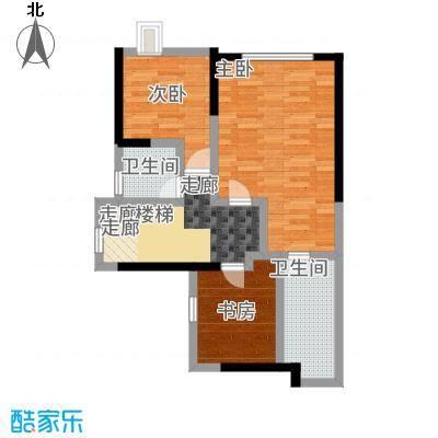 幸福城89.00㎡二期复式上层户型4室2厅