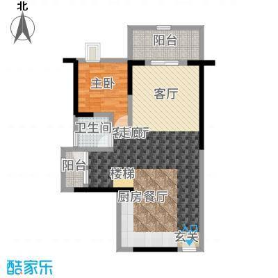 幸福城89.00㎡二期复式下层户型4室2厅
