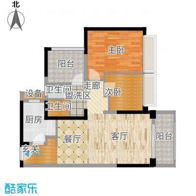 坪山招商花园城88.60㎡户型3室2厅