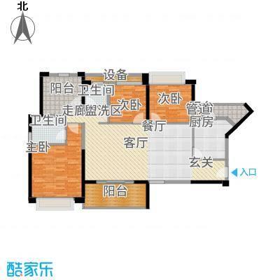 坪山招商花园城130.00㎡户型4室2厅