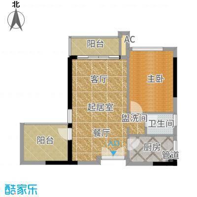 天玺1号68.00㎡10-11户型1室2厅