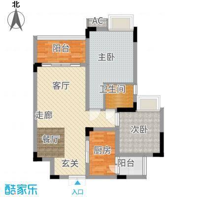 海宇学府江山一期7-21号楼D2户型2室2厅