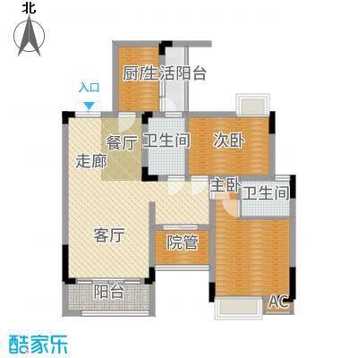 海宇学府江山一期7-21号楼D1户型2室2厅