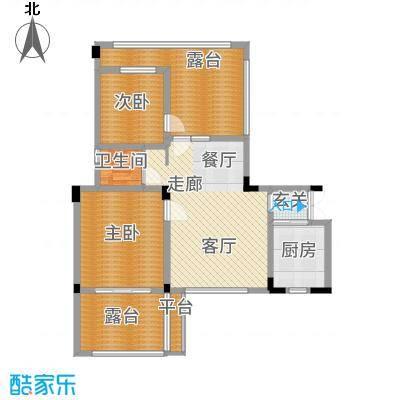 海宇学府江山一期7-21号楼B6户型2室2厅