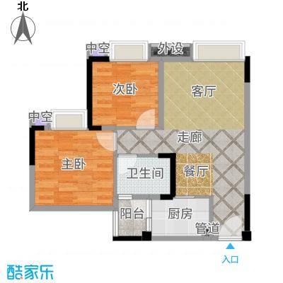 欣光松宿71.60㎡1期A栋标准层1号房户型2室1厅