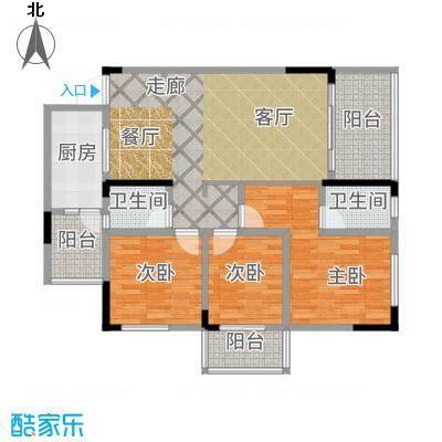 香草山二期10号楼标准层C-4户型3室2厅
