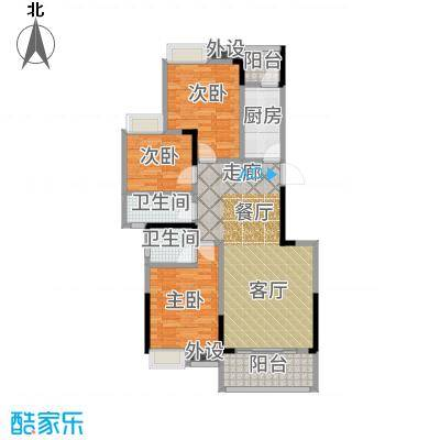 香草山二期10号楼标准层G-1户型3室2厅