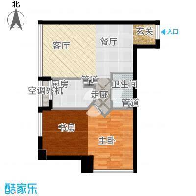 巴登巴登国际温泉养生公寓一期单体楼标准层1/11号房户型2室2厅