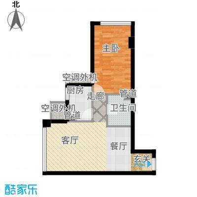 巴登巴登国际温泉养生公寓一期单体楼标准层3/9号房户型1室2厅