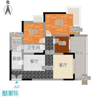 渝兴嘉悦山水一期3号楼标准层A3户型3室2厅