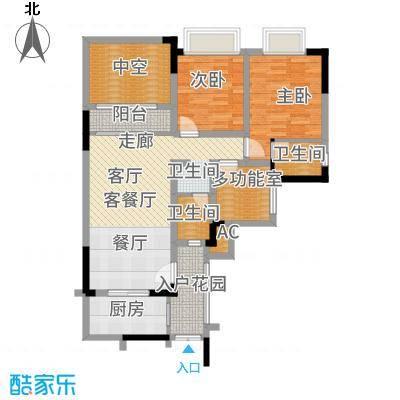 凤凰湾驭城77.71㎡347号楼C-1户型2室2厅