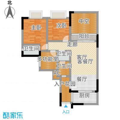 凤凰湾驭城112.50㎡1256号楼B-4户型3室2厅