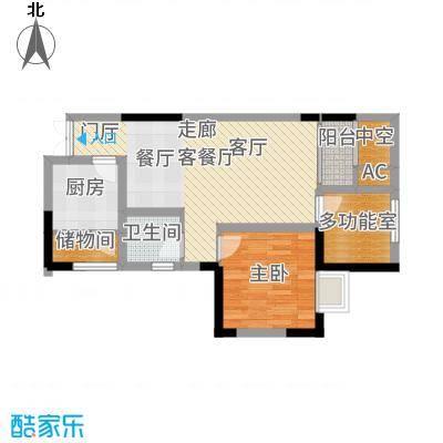 凤凰湾驭城85.60㎡1256号楼B-3户型2室2厅