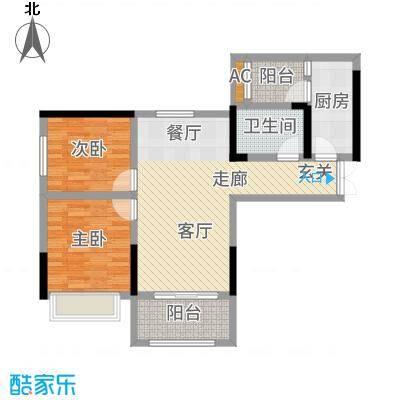 和顺园89.94㎡1号楼5号房户型2室2厅