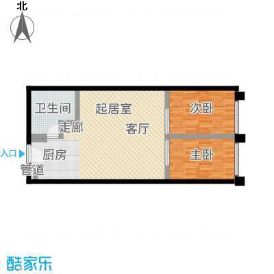 中贸广场70.00㎡15号楼17/18户型2室1厅