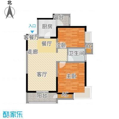 恒基碧翠锦华92.00㎡18号楼Y2户型2室2厅