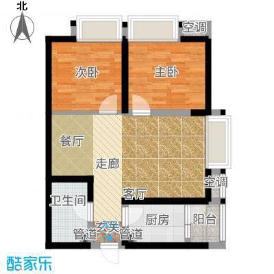 阳光台36573.75㎡14号楼H户型2室2厅