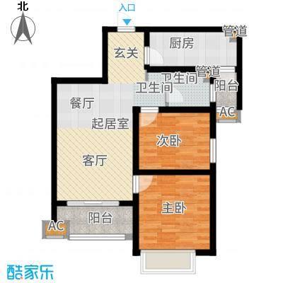 铭城国际社区83.88㎡3-12号楼Bjpg户型2室2厅