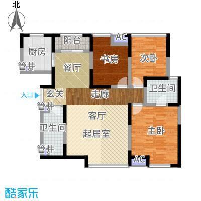 白桦林间136.93㎡20、21#C-2/D-2型户型3室2厅